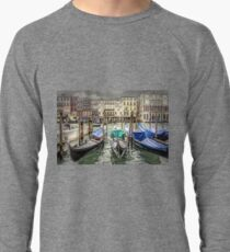 Rainy day on The Grand Canal in Venice Lightweight Sweatshirt