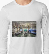 Rainy day on The Grand Canal in Venice Long Sleeve T-Shirt