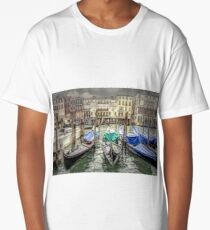 Rainy day on The Grand Canal in Venice Long T-Shirt
