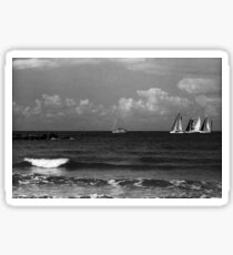 bograshov beach sailboats Sticker