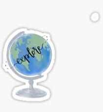 explore globe Sticker