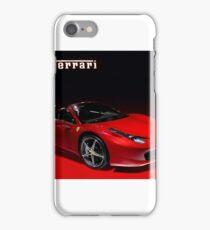 Red ferrari convertible iPhone Case/Skin