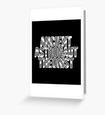 Ancient Astronaut Theorist Aliens Greeting Card