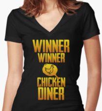 Winner Winner Chicken Dinner Women's Fitted V-Neck T-Shirt