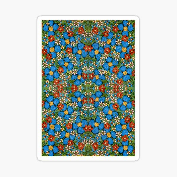 Fleurs bleues 2 Sticker