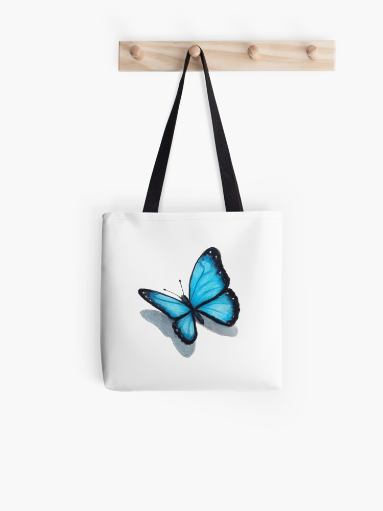 abstract design with butterfly print choice of handle colour Ben Nevis Tote bag