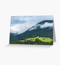 Traditional houses in Alps Greeting Card