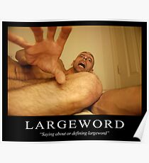 Large Word Poster