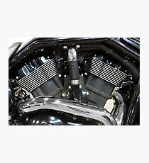 Motorcycle power engine close detail Photographic Print