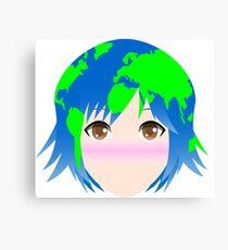 Earth-chan Simple Vector Canvas Print
