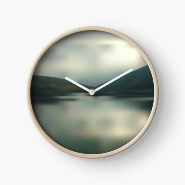 Lake in the mountains Clock