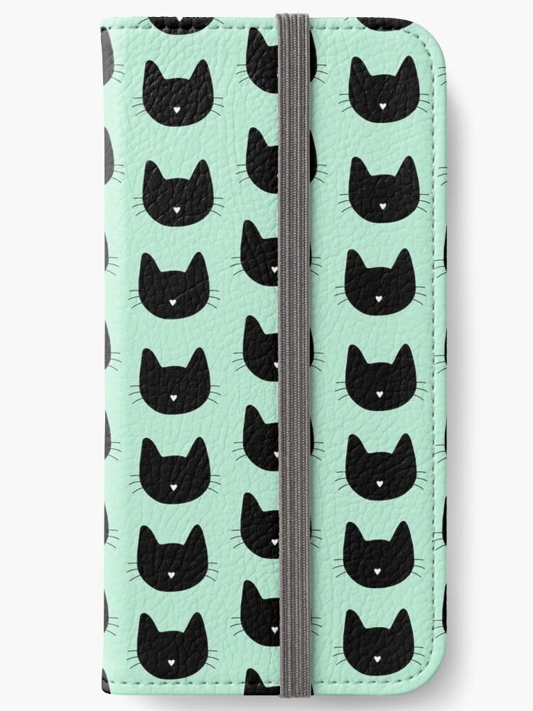 Niedliches Katzenmuster - Seafoam Green von DanaAndTheBooks