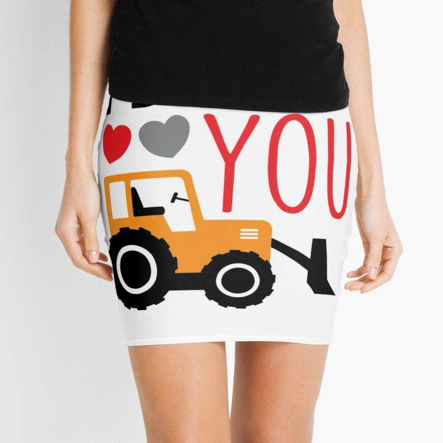 I Dig You Kids Valentine Shirt Mini Skirt