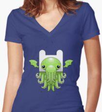 Finn Cthulhu Women's Fitted V-Neck T-Shirt