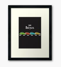 The Beetles on Abbey Road Framed Print