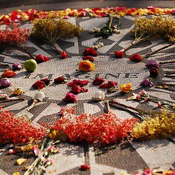 """John Lennon Memorial - """"Strawberry Fields"""" in Central Park - New York City by nkentb"""