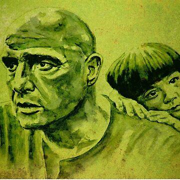 Marlon Brando and the girl by ARTito