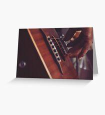 Guitar playing Greeting Card
