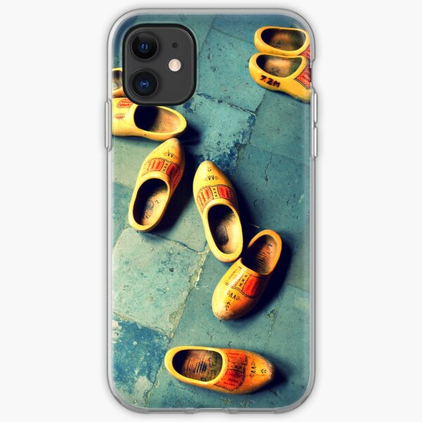 wooden slippers in Holland iPhone Soft Case