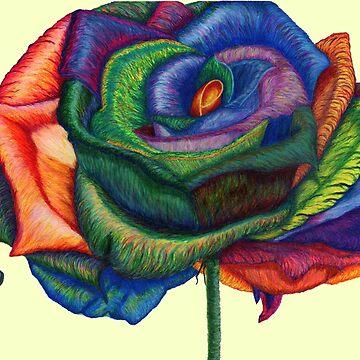 Fancy Me!  (Rainbow Roses) by TheJoanofArt