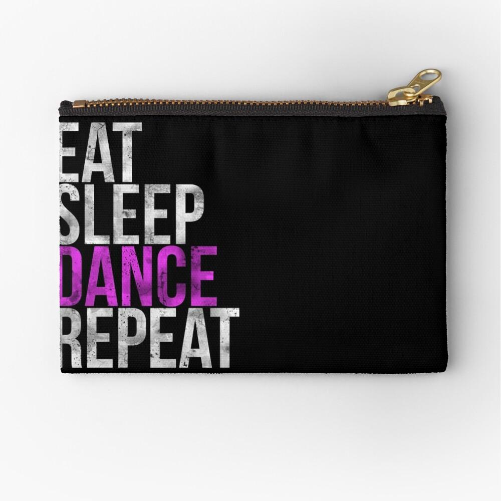 Eat Sleep Dance Repeat Zipper Pouch