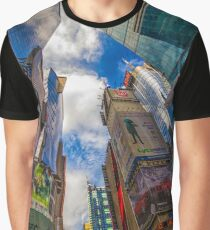 New York Sykline from Times Square Graphic T-Shirt