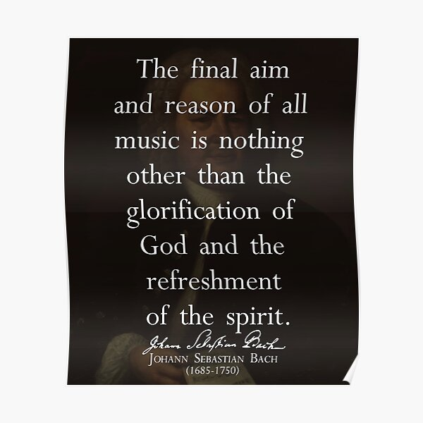 Bach Music Quotes Wall Art Redbubble