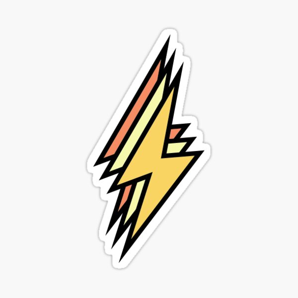 cute colored lightning bolt  Sticker
