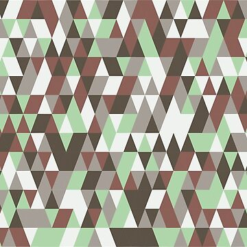 Modern Triangle Camo  by FringeInk