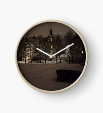 The Palace of Bad Berleburg by Night #1 Clock