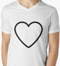 Black hearts Men's V-Neck T-Shirt
