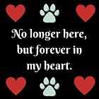 No longer here, but forever in my heart by Kamira Gayle