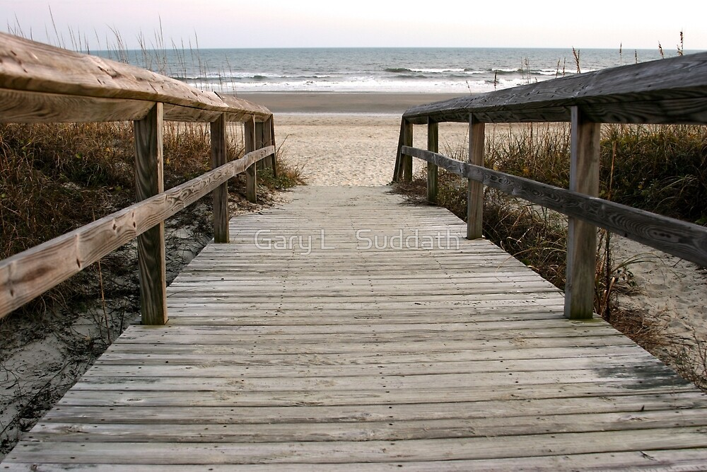 Beach Walk by Gary L   Suddath