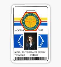 BONES Access Card - Dr. Temperance Brennan Sticker