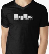 BigBro Graphics Logo Men's V-Neck T-Shirt