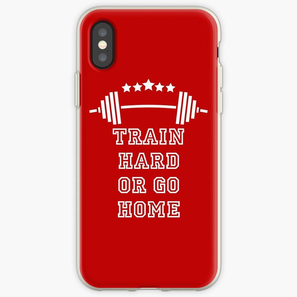 Gewichte Train Hard iPhone-Hülle & Cover