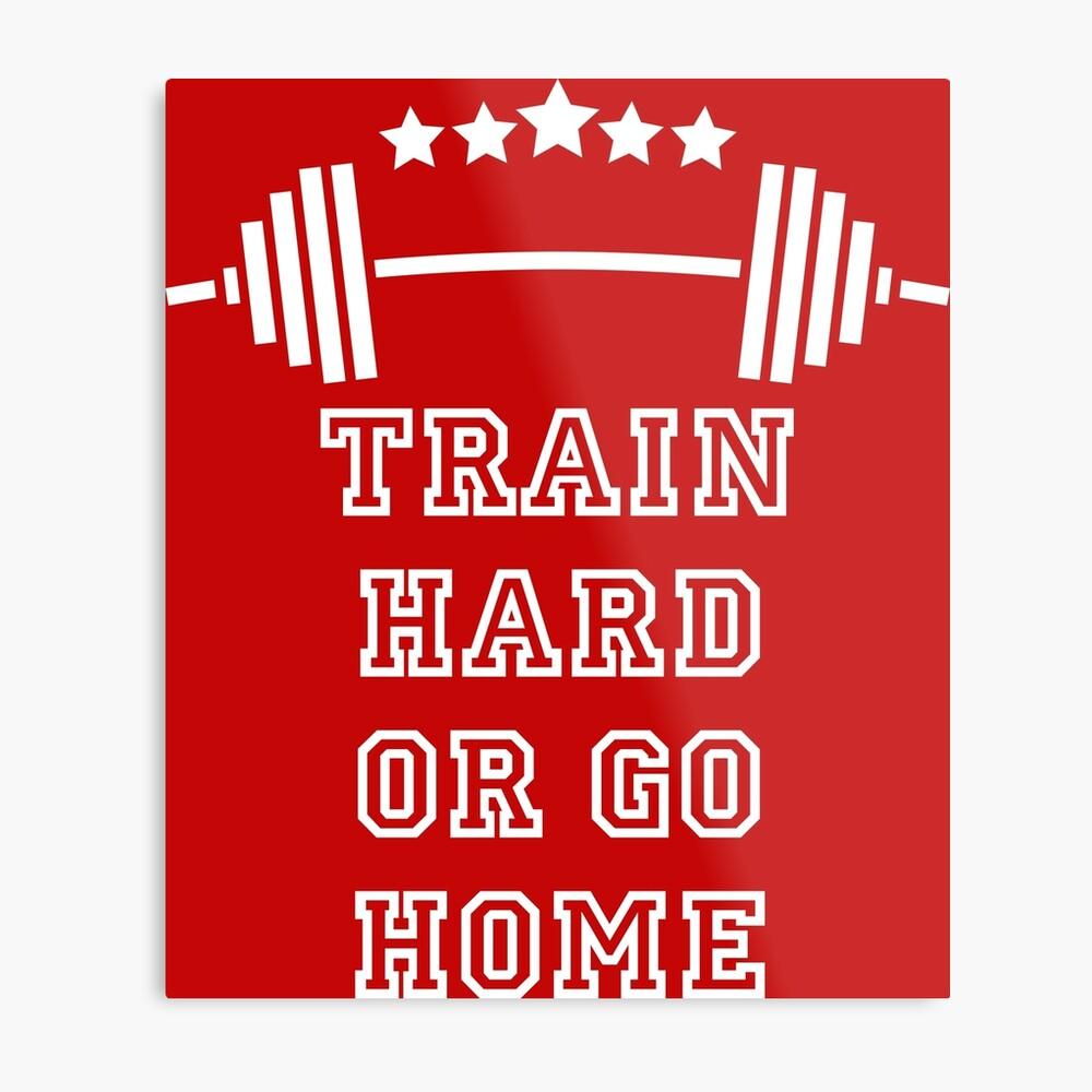 Gewichte Train Hard Metallbild