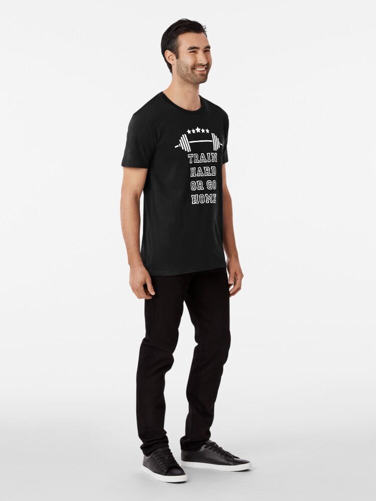 Alternative Ansicht von Gewichte Train Hard Premium T-Shirt