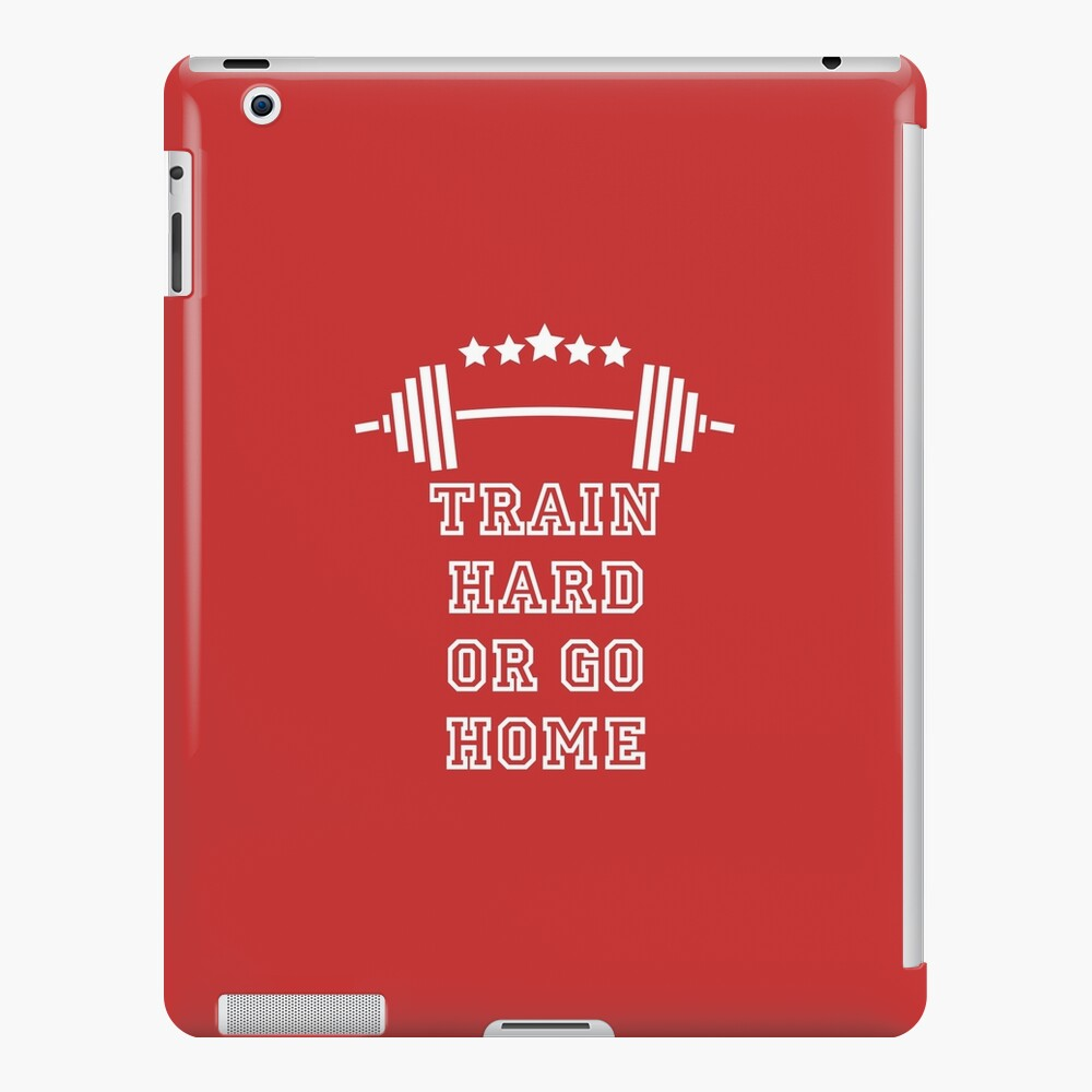 Gewichte Train Hard iPad-Hülle & Skin