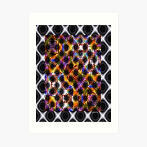 Abstract Gridlock Art Print