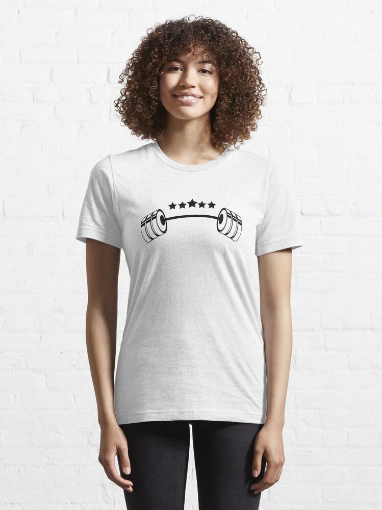 Alternate view of Weights GYM Stars Essential T-Shirt