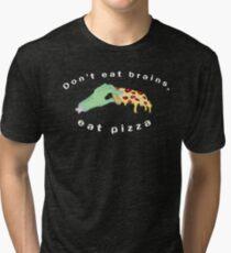 Pizza Loving Zombie Tri-blend T-Shirt