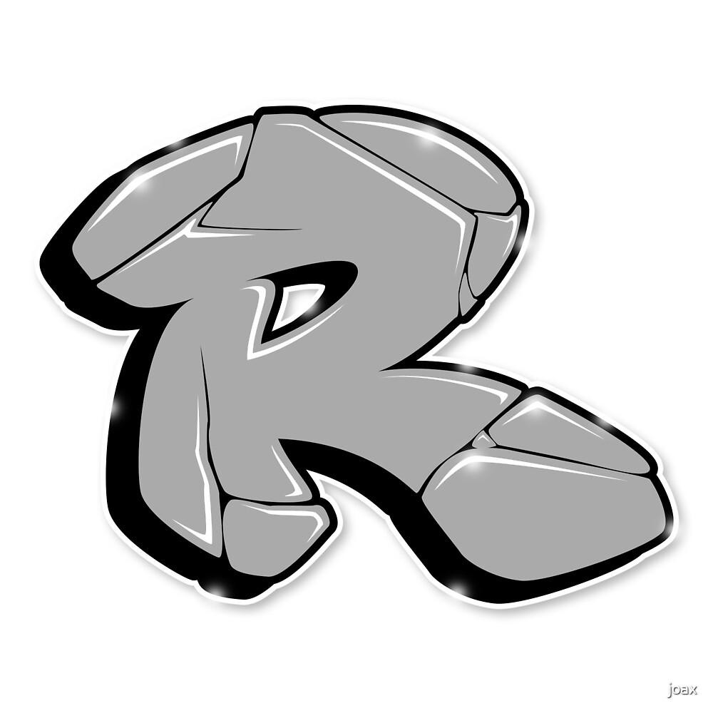 R graffiti letter by joax