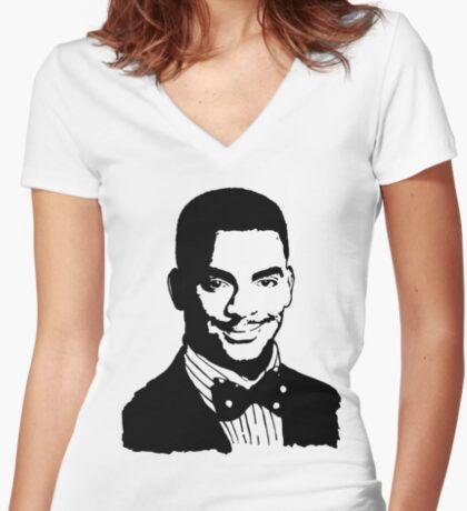 Carlton Banks Women's Fitted V-Neck T-Shirt