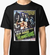 Santo Blue Demon Contra Los Monstruos Classic T-Shirt