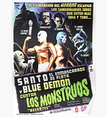 Santo Blue Demon Contra Los Monstruos Poster