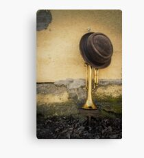 Trumpet Pork Pie Hat Canvas Print