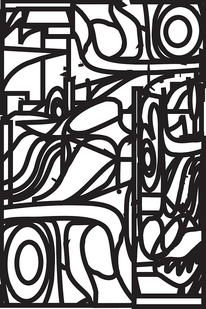 c4f315665 «Patrón de vidrio mancha orgánica (líneas negras sobre fondo blanco)» de  Charles
