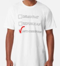35cbe5c9a2 CHECK ONE: Democrat, Republican, or Anti-Corruption Long T-Shirt