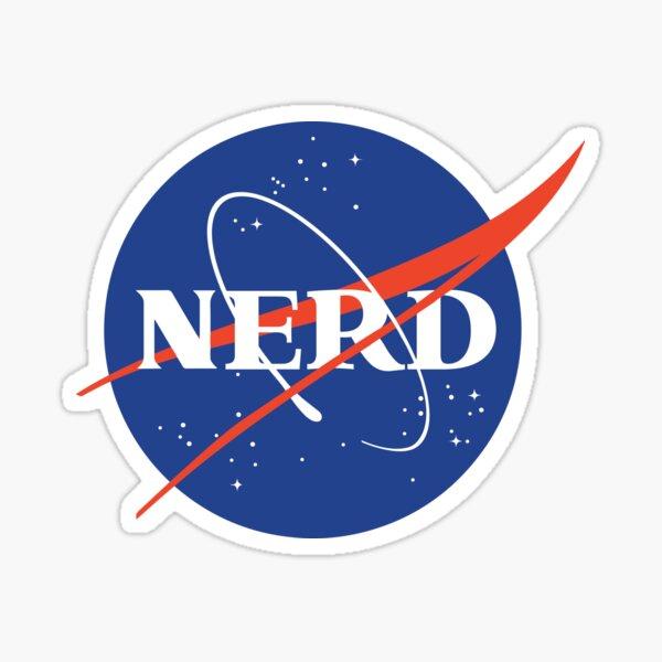 Nasa Nerd Parody Sticker
